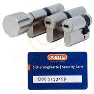 ABUS EC660 Türzylinder mit Sicherungskarte und Wendeschlüssel