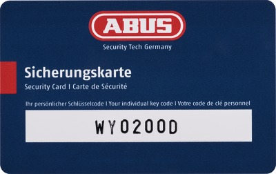 Vorhangschlösser mit Sicherungskarte