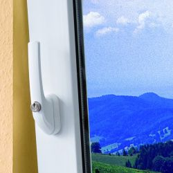 ABUS FG300 24er Großpackung Weiß abschließbarer Fenstergriff Gleichschließend AL0145, 200Nm