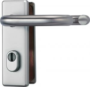 Stabiler Tür-Schutzbeschlag für Feuerschutztüren Kurz  beidseitig Drücker