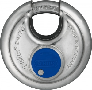 Abus Vorhangschloss 24IBWY/70 mit Sicherungskarte, inkl. 4 Schlüssel