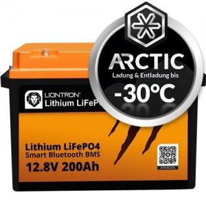 LIONTRON LiFePO4 12,8V 200Ah LX Arctic BMS mit Bluetooth