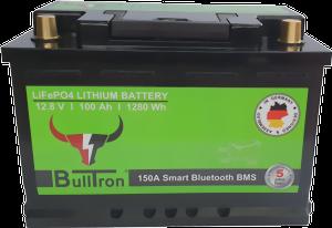 BullTron® LiFePO4 105Ah Akku BMS & Bluetooth integriert LxBxH: 279 x 175 x 189 mm
