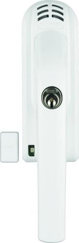 ABUS Fenstergriff mit Alarmanlage FG300A weiß/silber/braun Gleichschließend AL0145