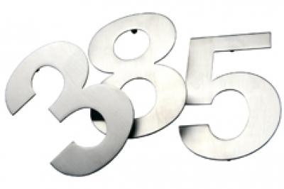 Edelstahl-Hausnummern b, Höhe15cm