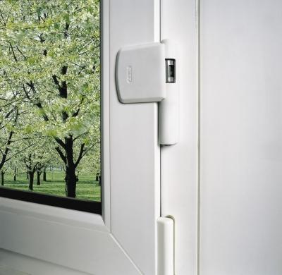 ABUS FAS 101 Scharnierseiten-Sicherung FAS101 weiß/braun/silber