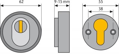 ABUS Schutzrosette mit Zylinderschutz RHZS415