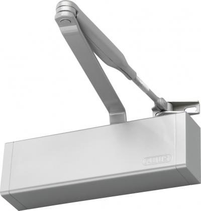 ABUS Türschließer 7603 Silber Braun Weiß