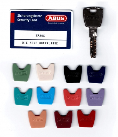 Abus XP20 XP20S Nachschlüssel Ersatzschlüssel nach CODE mit farbiger Kappe
