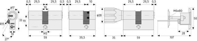 abus xp2s schlie zylinder t rzylinder xp2 mit sicherungskarte und not und gefahrenfunktion. Black Bedroom Furniture Sets. Home Design Ideas