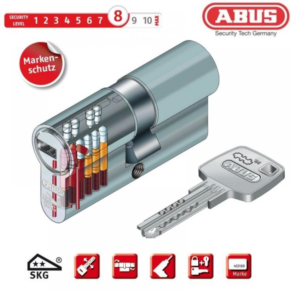 3 Schl/üssel ABUS Profilzylinder EC660 ECK660 gleichschliessend mit Sicherungskarte inkl 30//30K mm, Doppelzylinder
