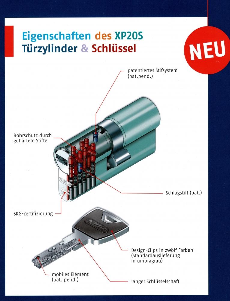 Schlie/ßzylinder mit Knauf Zylinderschloss T/ürschloss 45 x 55mm 3 Schl/üsseln Profilzylinder inkl