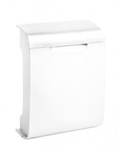 Designer-Kunststoff-Briefkasten Vivo Weiß