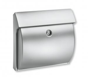 Kunststoff-Briefkasten Classico Silber