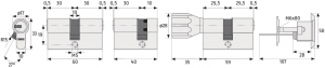 ABUS ECK660 Knaufzylinder mit Sicherungskarte