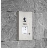 BALTER EVIDA Silver RFID Edelstahl-Türstation für 1 Teilnehmer, 2-Draht BUS Technologie, 170° Weitwinkelkamera, Aufputz