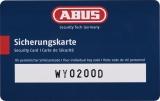 Abus Vorhangschloss 26WY/80 mit Sicherungskarte