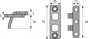 ABUS TAS102 Scharnierseitensicherung