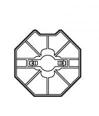Adapter/Mitnehmer, SW70/45