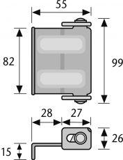 ABUS SW2 Riegel Fenster- und Türsicherung
