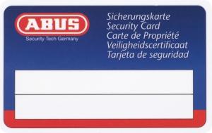 ABUS KXP20S Knaufzylinder mit Sicherungskarte