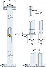 ABUS Fensterstangenschloss FOS550, FOS 550 Weiß/Braun/Silber