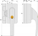 ABUS FO500N Fenster-Zusatzschloss mit Sperrbügel