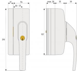 ABUS FO400N Fenster-Zusatzschloss in Fenstergriff-Optik