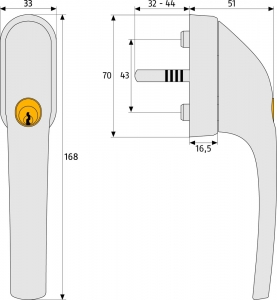 ABUS FG300 Silber abschließbarer Fenstergriff Gleichschließend