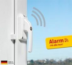 ABUS Fenstergriff mit Alarmanlage FG300A Braun DIN: links