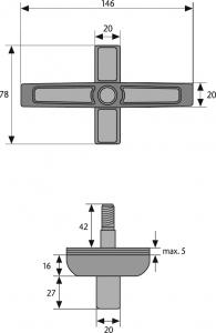 ABUS 2520 Braun Fenster-Zusatzschloss für Doppelflügelfenster