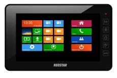 Neostar 7 Touch-Screen Videostation schwarz, 4-Draht Technik