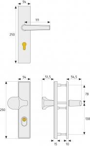 ABUS Stabiler Tür-Schutzbeschlag mit Zylinderschutz - eckig