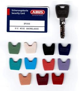 Abus XP20S Nachschlüssel nach CODE Ersatzschlüssel mit farbiger Kappe