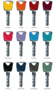 ABUS XP20S Schließzylinder Farbkappenschlüssel Sicherungskarte Not- Gefahrenfunktion
